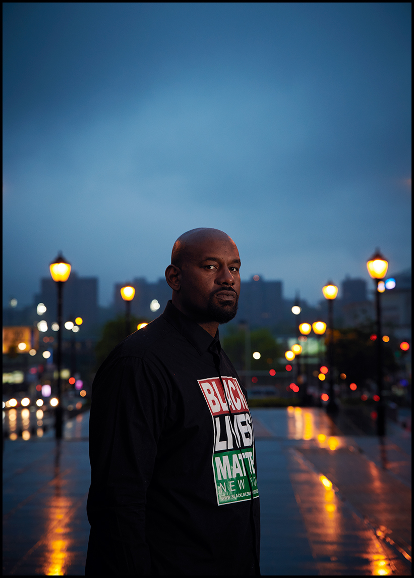 HawkNewsome  Portrait, Evan Mann Photography, BLM Activist, black lives matter NYC