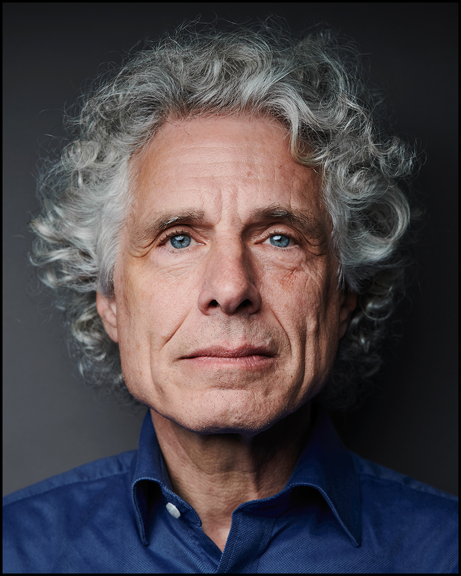 Steven Pinker Portrait, Evan Mann Photography